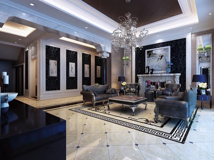 名称:客厅装修; 客厅装修效果图-装修图片-泰州; 中远欧洲城