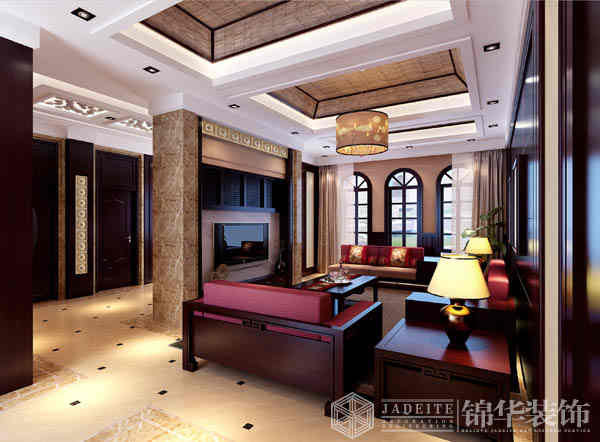 唐郡装修图片-别墅图片大全-欧式古典风格-扬州锦华